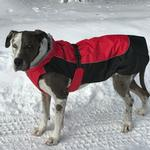 View Image 1 of Alpine All-Weather Dog Coat by Doggie Design - Red and Black