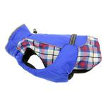View Image 1 of Alpine All-Weather Dog Coat by Doggie Design - Royal Blue Plaid