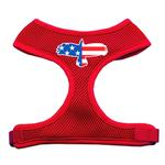 View Image 1 of American Flag Eagle Dog Harness - Red