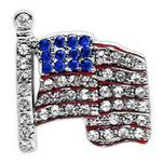 View Image 1 of American Flag Slider Dog Collar Charm