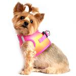View Image 2 of American River Choke-Free Dog Harness by Doggie Design - Raspberry and Orange Sorbet Ombre