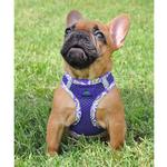 View Image 2 of American River Hawaiian Trim Choke-Free Dog Harness by Doggie Design - Paisley Purple