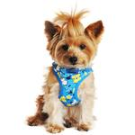 View Image 1 of Wrap and Snap Choke Free Dog Harness by Doggie Design - Hawaiian Blue