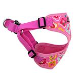 View Image 4 of Wrap and Snap Choke Free Dog Harness by Doggie Design - Maui Pink