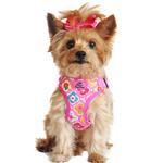 View Image 1 of Wrap and Snap Choke Free Dog Harness by Doggie Design - Maui Pink