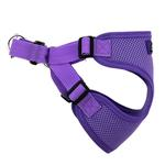 View Image 4 of Wrap and Snap Choke Free Dog Harness by Doggie Design - Paisley Purple