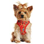 View Image 1 of Wrap and Snap Choke Free Dog Harness by Doggie Design - Tahiti Red