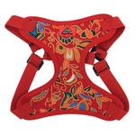 View Image 2 of Wrap and Snap Choke Free Dog Harness by Doggie Design - Tahiti Red