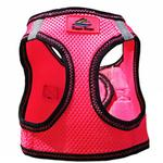 View Image 3 of American River Top Stitch Dog Harness by Doggie Design - Iridescent Pink