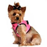 View Image 2 of American River Top Stitch Dog Harness by Doggie Design - Iridescent Pink