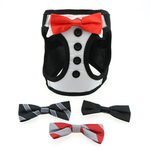 View Image 2 of American River Ultra Choke Free Dog Harness by Doggie Design - Tuxedo with 4 Interchangeable Bows