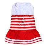 View Image 1 of Anchor Bling Dog Dress by Dobaz - Red