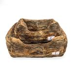 View Image 1 of Animal Print Luxe Dog Bed by Hello Doggie - Red Fox