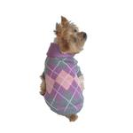 View Image 2 of Argyle Acrylic Dog Sweater with Matching Scarf