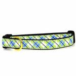 View Image 1 of Argyle Dog Collar by Up Country - Blue & Green