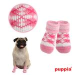 View Image 1 of Argyle Dog Socks by Puppia - Pink