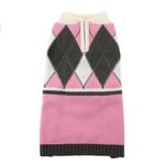 View Image 3 of Argyle Dog Sweater by Hip Doggie - Pink