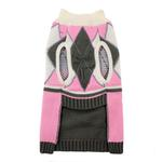 View Image 4 of Argyle Dog Sweater by Hip Doggie - Pink