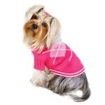 View Image 1 of Argyle Pattern Turtleneck Dog Sweater from Klippo - Pink