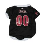 View Image 1 of Arizona Diamondbacks Baseball Dog Jersey - White Trim
