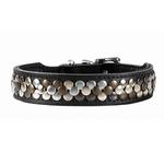 View Image 4 of Arizona Studded Leather Dog Collar by HUNTER - Black