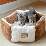 View Image 1 of Armarkat Pet Bed - Brown/Ivory
