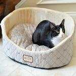 View Image 1 of Armarkat Pet Bed - Silver/Beige