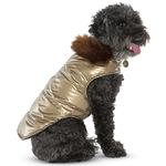 View Image 2 of Aspen Puffer Dog Coat by Up Country - Gold