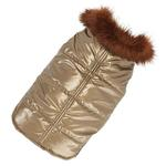 View Image 1 of Aspen Puffer Dog Coat by Up Country - Gold