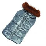 View Image 1 of Aspen Puffer Dog Coat by Up Country - Silver