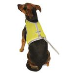 View Image 3 of Athletic Mesh Dog Vest Harness - Yellow