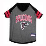 View Image 1 of Atlanta Falcons Hooded Dog T-Shirt