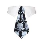 View Image 1 of Crossbones Dog Shirt Collar and Tie