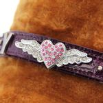 View Image 2 of Aviator Slider Dog Collar Charm - Pink