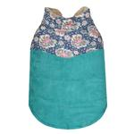 View Image 1 of Paisley Dog Jacket by Parisian Pet - Teal