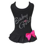 View Image 1 of Baby Girl Dog Dress - Black with Pink Bow