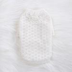 View Image 2 of Sweet Magnolia Dog Sweater by Hello Doggie - White