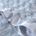 View Image 2 of Baby Ruffle Dog Blanket by Hello Doggie - Silver