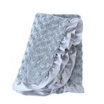 View Image 1 of Baby Ruffle Dog Blanket by Hello Doggie - Silver