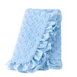 View Image 1 of Baby Ruffle Dog Blanket by Hello Doggie - Baby Blue
