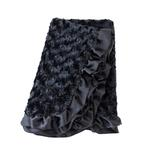 View Image 1 of Baby Ruffle Dog Blanket by Hello Doggie - Black