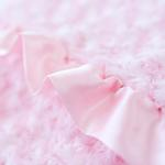 View Image 2 of Baby Ruffle Dog Blanket by Hello Doggie - Baby Pink