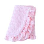 View Image 1 of Baby Ruffle Dog Blanket by Hello Doggie - Baby Pink