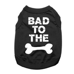 View Image 1 of Bad to the Bone Dog Shirt - Black