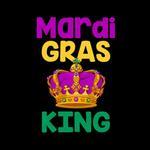 View Image 2 of Mardi Gras King Dog Shirt - Black
