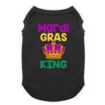View Image 1 of Mardi Gras King Dog Shirt - Black