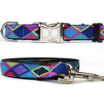 View Image 1 of Tanzania Dark Dog Collar and Leash Set by Diva Dog