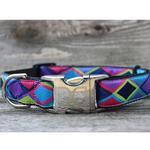 View Image 5 of Tanzania Dark Dog Collar and Leash Set by Diva Dog