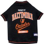 View Image 1 of Baltimore Orioles Dog T-Shirt - Black
