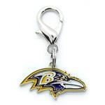 View Image 1 of Baltimore Ravens Logo Dog Collar Charm